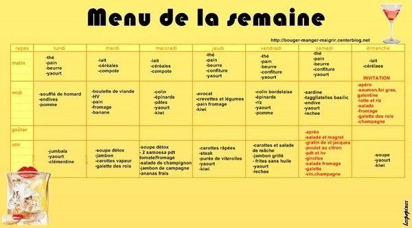 Tags menu du jour de la semaine light type dietetique pictures for Menu dietetique