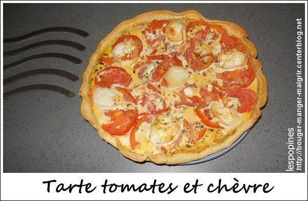recette de tarte aux tomates et chèvre