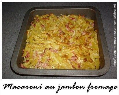 recette de macaroni au jambon fromage recette macaroni jambon fromage light. Black Bedroom Furniture Sets. Home Design Ideas