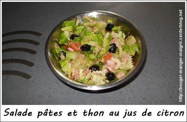 recette salade de pâtes et thon au jus de citron