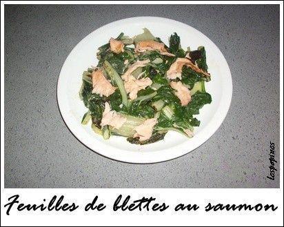 Recette de feuilles de blettes au saumon fum centerblog - Comment cuisiner des feuilles de blettes ...