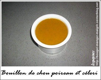 Recette de bouillon de chou poireau et céleri - soupe de