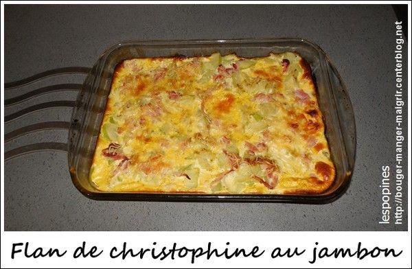 recette de flan christophine au jambon