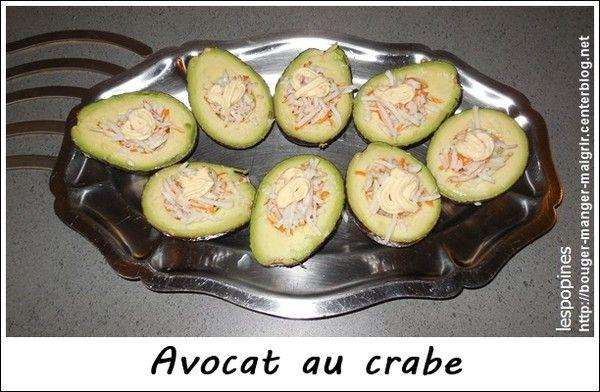 recette d'avocat au crabe