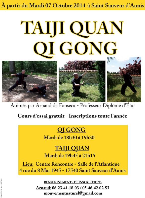 cours de qi gong et taiji quan