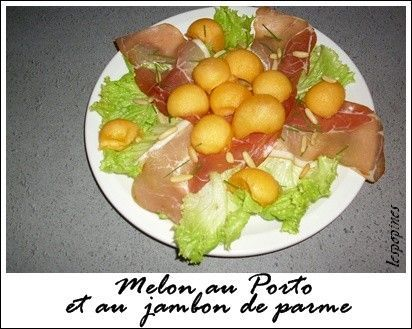 recette du melon au porto et jambon de parme. Black Bedroom Furniture Sets. Home Design Ideas