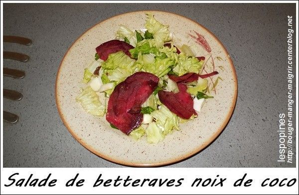 recette de salade de betterave crue noix de coco fraiche centerblog. Black Bedroom Furniture Sets. Home Design Ideas