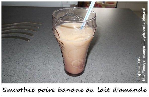 recette smoothies lait d'amande poire-banane