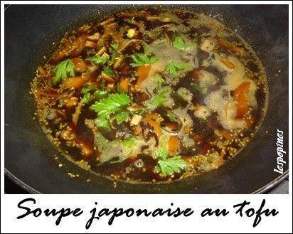 Recette de soupe japonaise au tofu centerblog - Recette soupe japonaise ...