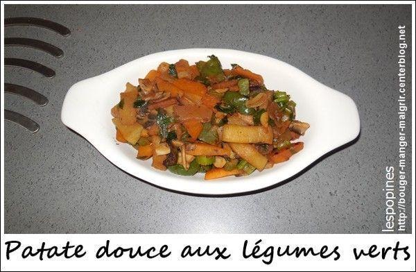 recette de patate douce aux légumes verts