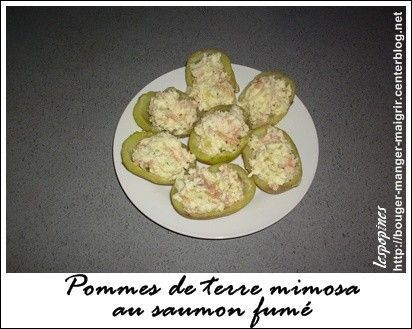 recette de pomme de terre mimosa au saumon fum centerblog. Black Bedroom Furniture Sets. Home Design Ideas