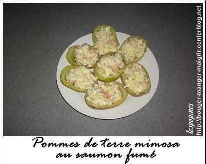 recette de pomme de terre mimosa au saumon fum centerblog. Black Bedroom Furniture Sets. Home Design Ideas