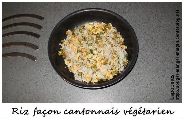 recette de riz façon cantonnais végétarien