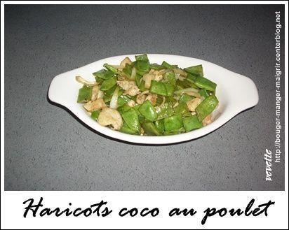 recette de wok haricots coco au poulet. Black Bedroom Furniture Sets. Home Design Ideas