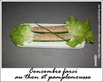 recette de concombre farci au thon et pamplemousse. Black Bedroom Furniture Sets. Home Design Ideas