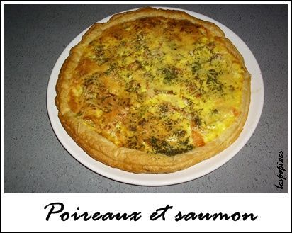 recette quiche au saumon poireau et vin blanc. Black Bedroom Furniture Sets. Home Design Ideas