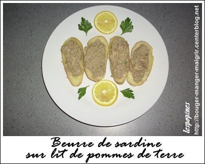 recette beurre de sardine sur lit de pommes de terre. Black Bedroom Furniture Sets. Home Design Ideas